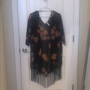Swimsuit Cover-Up with Fringe